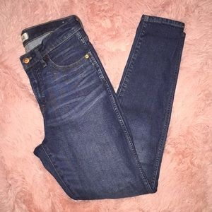 """Madewell Jeans 9"""" Skinny Size 28"""